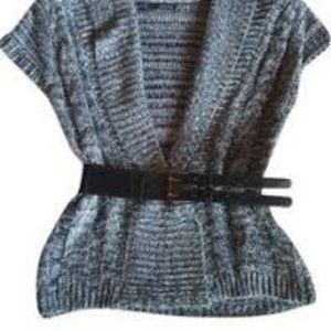 Maurices Sweaters - 5/$20 Maurices gry/blk/white Short Sleeve Cardigan